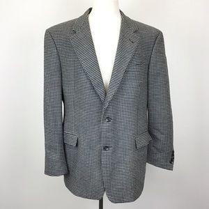 Burberry Houndstooth Sport Coat Suit Jacket